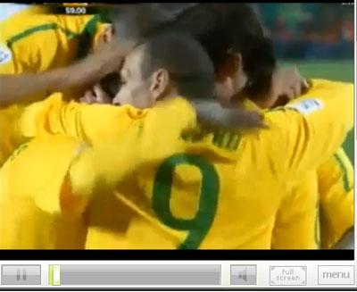 clip ผลบอล ฟุตบอลโลก 2010 บราซิล 3 - 0 ชิลี