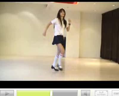 สาวน่ารักเต้นแท๊บ